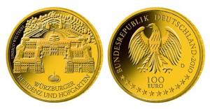 """100-Euro-Goldmünze """"Würzburg"""""""