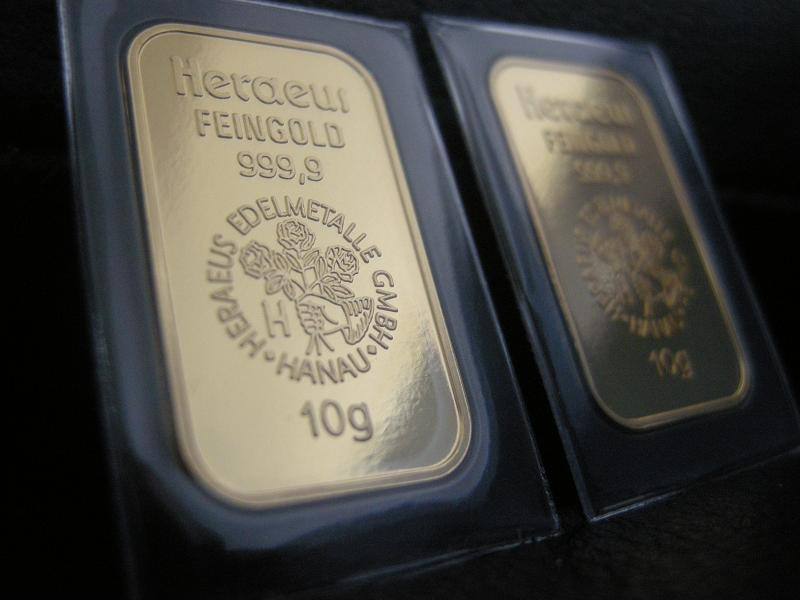 Goldbarren 10 Gramm Heraeus