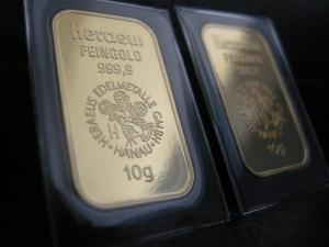 Goldbarren: Steigender Goldpreis dank schwachem Euro (Foto: Goldreporter)