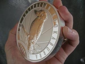 1-Kilo-Silbermünze Kookaburra