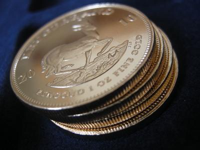 Gold - Krügerrand-Goldmünzen