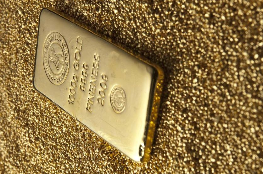 Gold, Südafrika, Krügerrand. Goldmünzen, Goldbarren