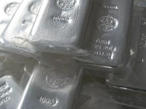 Silber, Silberbarren, Zollfreilager (Foto: Goldreporter)