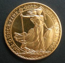 Anlage-Goldmünze Britannia, 1 Unze