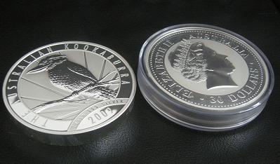 Silber, Silbermünze, 1 Kilo (Foto: Goldreporter)