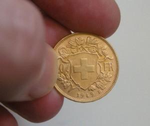 Vreneli GoldmünzeAusschnitt
