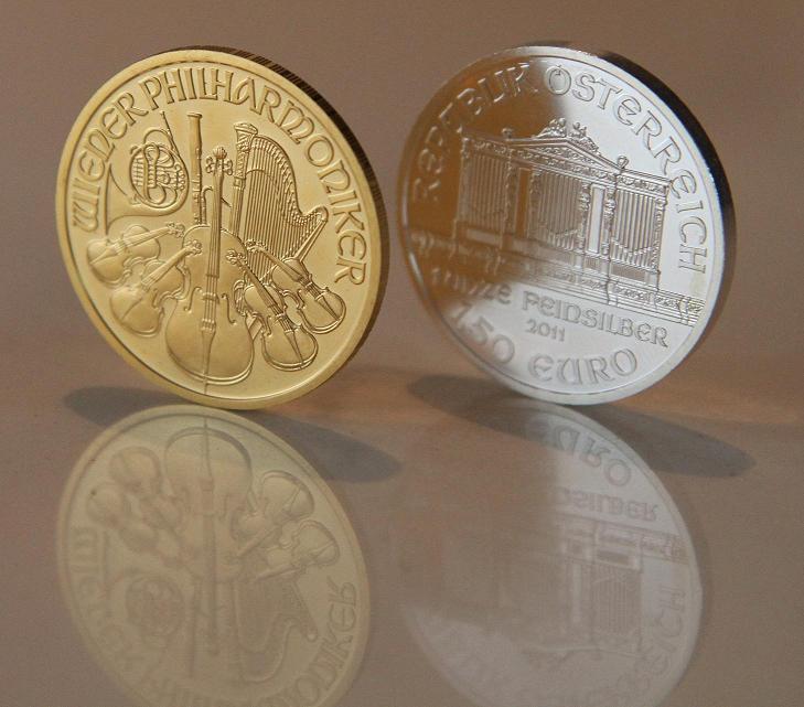 Wiener Philharmoniker, Goldmünze und Silbermünze (Foto: Goldreporter)