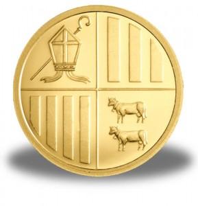 Andorra Gold Eagle - Rückseite Goldmünze