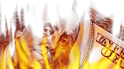 US-Dollar im Feuer (Foto: TheSupe87 - Fotolia.com)
