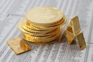 Goldmünzen Goldbarren klein Goldpreis Zeitung