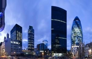 Banken London England Großbritannien Briten