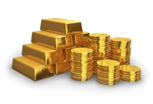 Goldbarren Goldmünzen © Scanrail - Fotolia.com