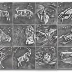 Silbertafeln Tierkreiszeichen