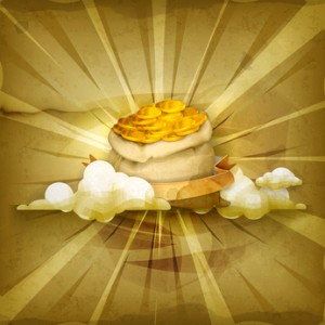 Goldsack, Sack mit Gold
