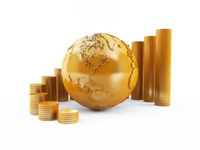 Gold, Erde Globus