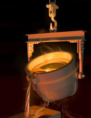 Gold Schmelze (Paul Fleet - Fotolia.com)