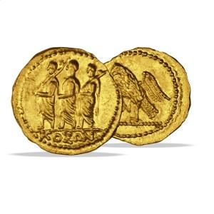 """goldstater-marcus-brutus (Bild: """"Bildquellenangabe: Online-Shop von Münzkurier http://www.muenzkurier.de/)"""