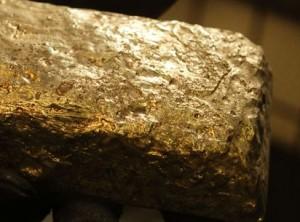 Goldbarren roh