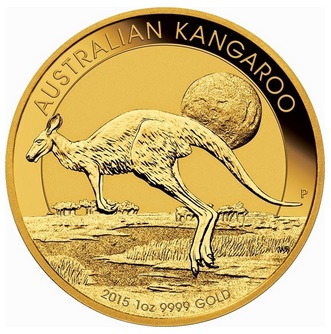 Gold-Känguru (Foto: Perth Mint)