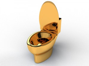 Golden toilet bowl #4