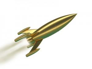 Gold Rakete
