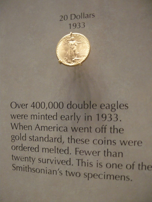 Double Eagle  Smithsonian Washington