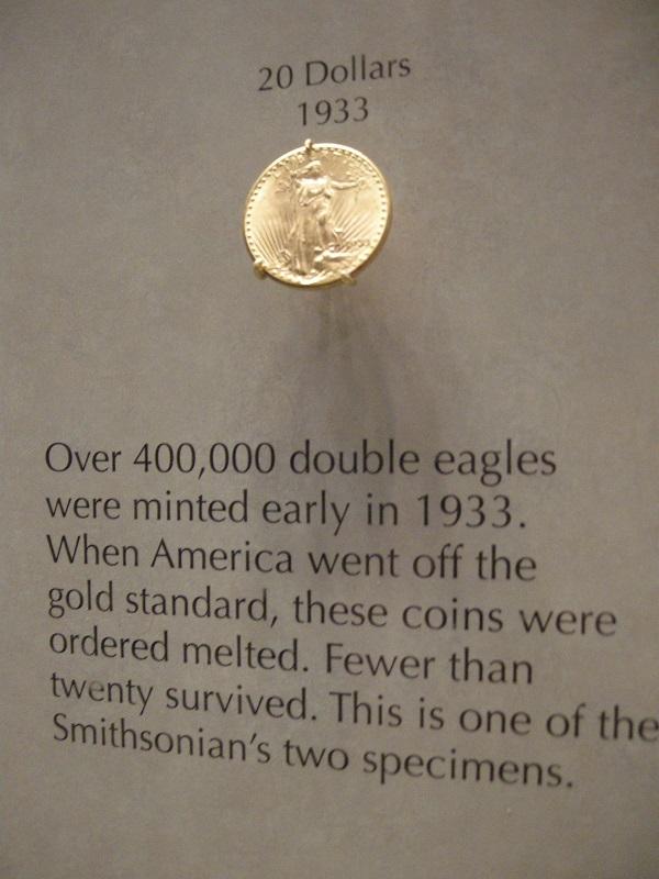 Double Eagle  Smithsonian Washington