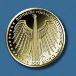 1oo Euro Goldmuenze Regensburg vorn