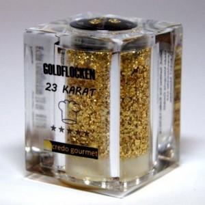 Goldflocken, Blattgold, Streuer