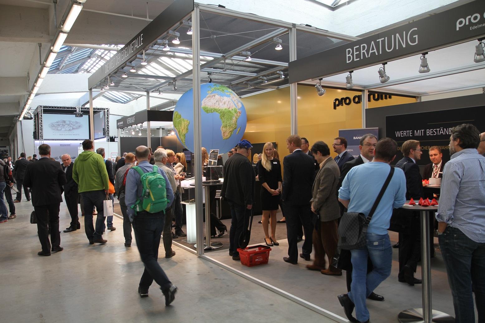Edelmetallmesse 2015, Messestand Pro Aurum, Foto: Goldreporter