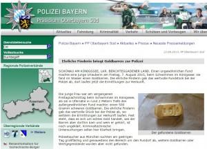 Goldbarren Bayern