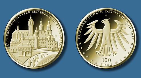 100-Euro-Gedenkmünze Luthergedenk