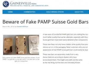 PAMP Goldbarren falsch Gainsville