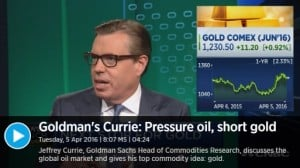 Currie Gold CNBC