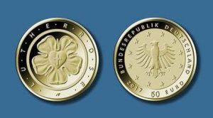 50-Euro-Goldmuenze-Lutherrose