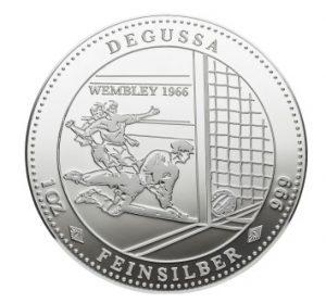 Degussa Wembley 1966 Silber Medaille