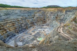 Work site at the largest gold mine, Goldmine