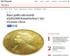 Wertvolle Goldmünze Unter Spielsachen Gefunden Goldreporter