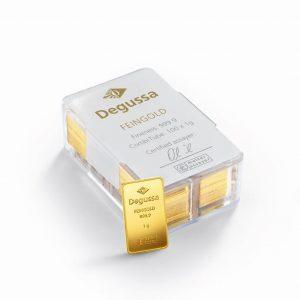 Degussa, CombiTube, Goldbarren, 1 Gramm