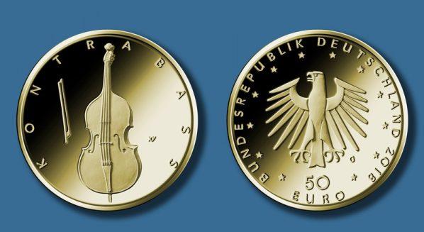 "50-Euro-Goldmünze ""Kontrabass"""