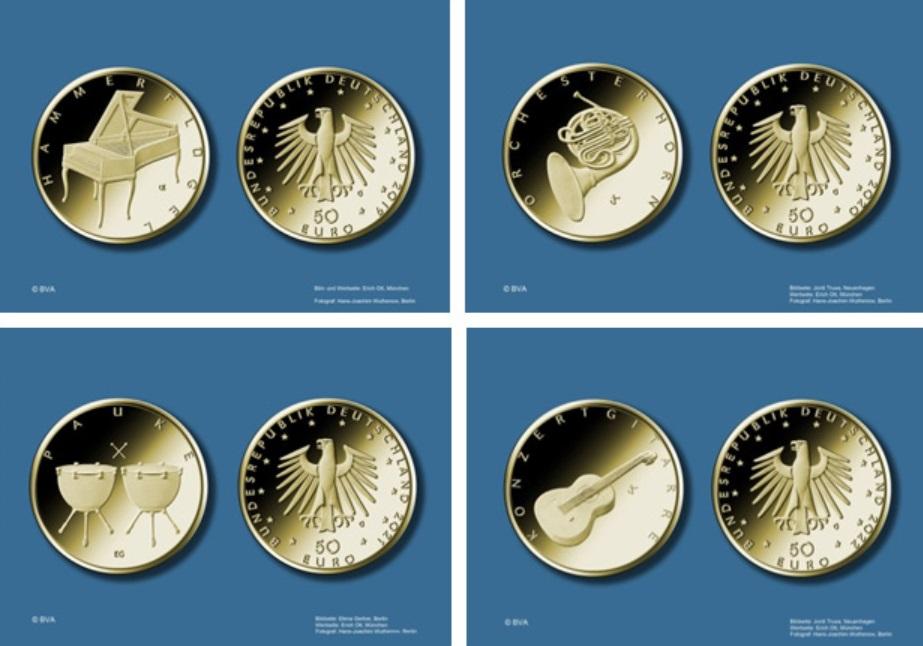 50 Euro Goldmünzen Der Brd Das Sind Die Motive Goldreporter
