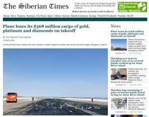 Goldbarren verloren, Frachtflug