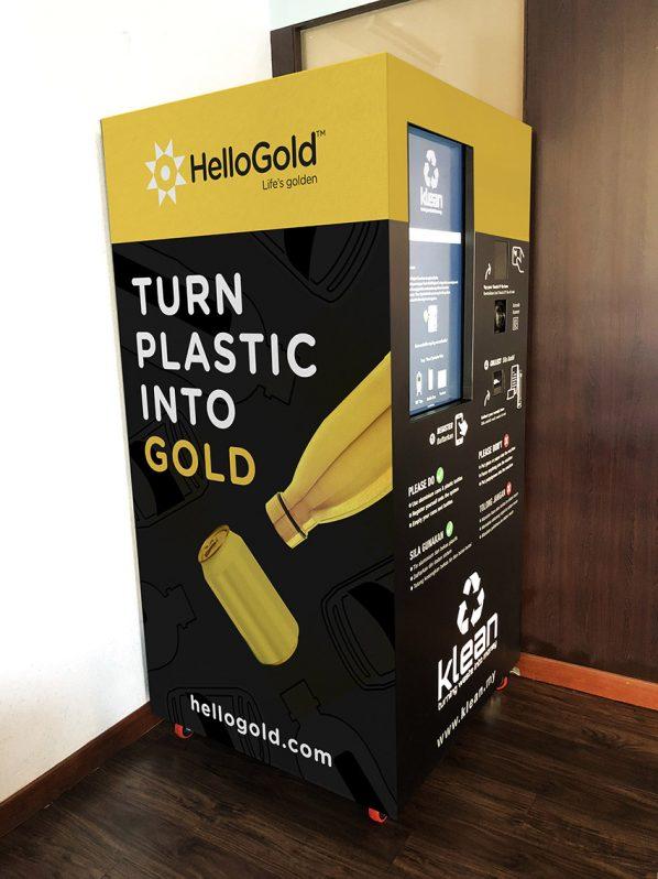Gold, Automat, Pfandflaschen