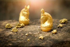 Gold, Krieg