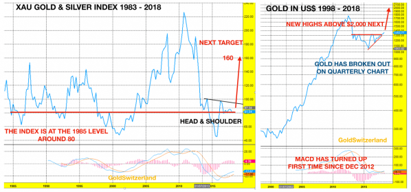 XAU Gold Silber Index
