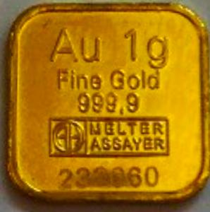 Goldbarren, 1 Gramm