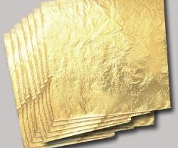 Gold, Blattgold (Foto: Goldreporter)
