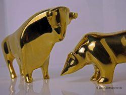 Gold, Bulle, Bär (Foto. Goldreporter)