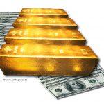 Goldbarren-Dollar-Goldreporter