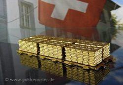 Gold, Schweiz, Goldbarren (Foto: Goldreporter)